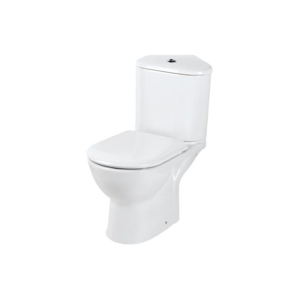 Eastbrook Kompact WC Pan and Soft Close Seat with Corner Cistern