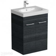 Tissino Angelo Barossa Oak 600mm Base Unit & 600mm Washbasin