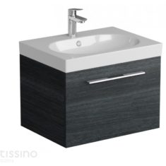 Tissino Angelo Barossa Oak 600mm Wall-Hung Unit & 600mm Washbasin