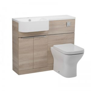 Tavistock Match Oregon Oak WC & Basin Unit & LH Isocast Basin
