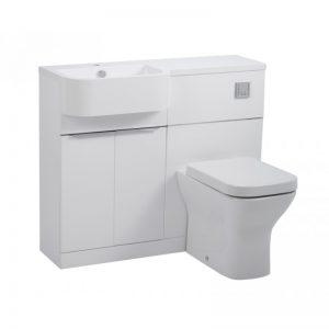 Tavistock Match Gloss White WC & Basin Unit & LH Isocast Basin
