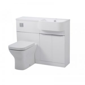 Tavistock Match Gloss White WC & Basin Unit & RH Isocast Basin