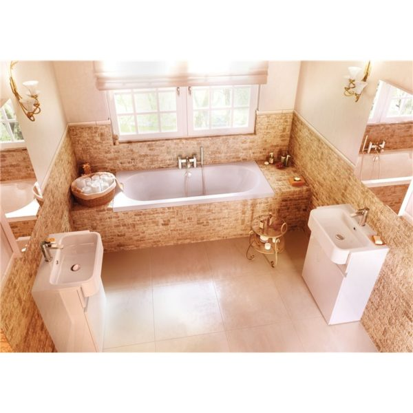Cleargreen Verde 1700 x 700mm Double Ended Round Bath