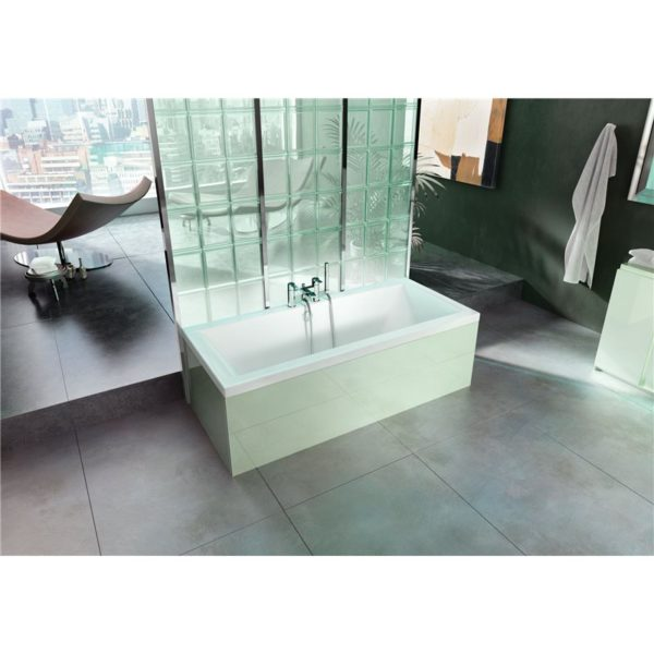 Cleargreen Enviro 1700 x 700mm Double Ended Square Bath