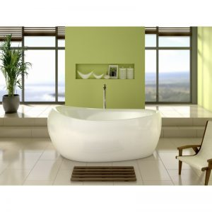 One Stop Mayfair Freestanding Egg Shape Bath 1700 x 700mm