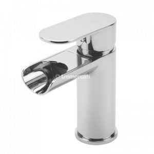 Tre Mercati Geco Open Spout Mono Basin Mixer with Click Clack Waste