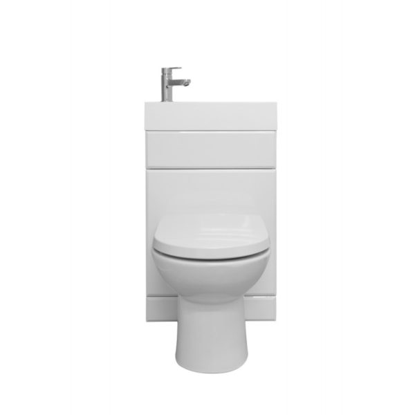 Kompact 2 in 1 WC Unit, BTW Pan with S/C Seat & 1TH Ceramic Basin