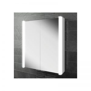 HiB Vita 60 Illuminated Aluminium Cabinet (45500)