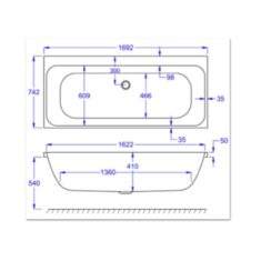 Carron Profile Duo 1700 x 750 x 410mm Acrylic Bath