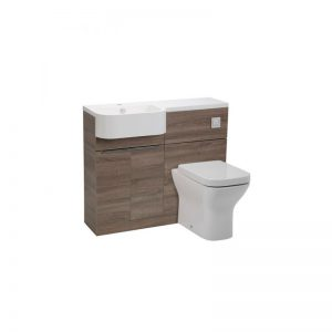 Tavistock Match Havana Oak WC & Basin Unit & LH Isocast Basin