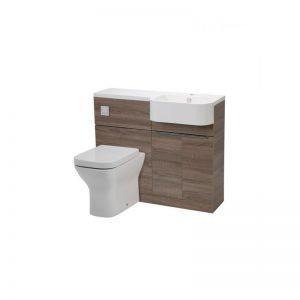 Tavistock Match Havana Oak WC & Basin Unit & RH Isocast Basin