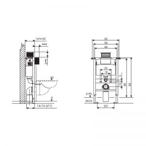 Tissino Rocco 82cm Universal Framed Cistern