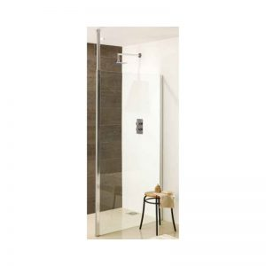 Eastbrook Valliant Square Pole Walk-in Wet Room Panel – 1400mm front panel