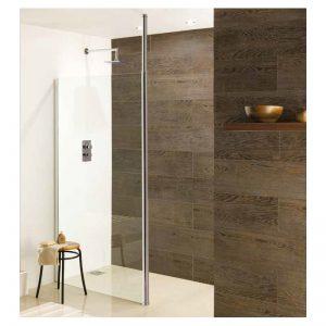 Eastbrook Valliant Round Pole Walk-in Wet Room Panel – 1400mm front panel