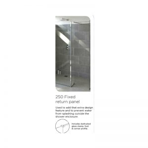 Tissino Armano 1400mm Walk in Glass Panel with Wall Profile