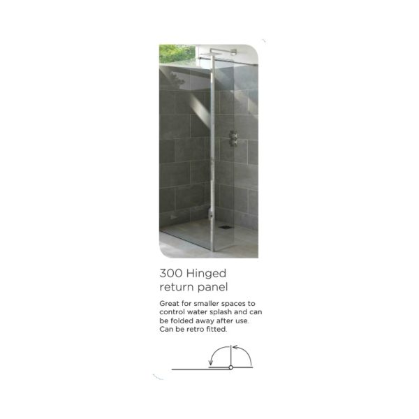 Tissino Armano 1400mm Walk in Glass Panel with Wall Profile