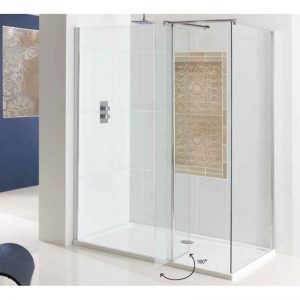 Eastbrook Vantage Walk-In Front Panel with Flipper – 600mm
