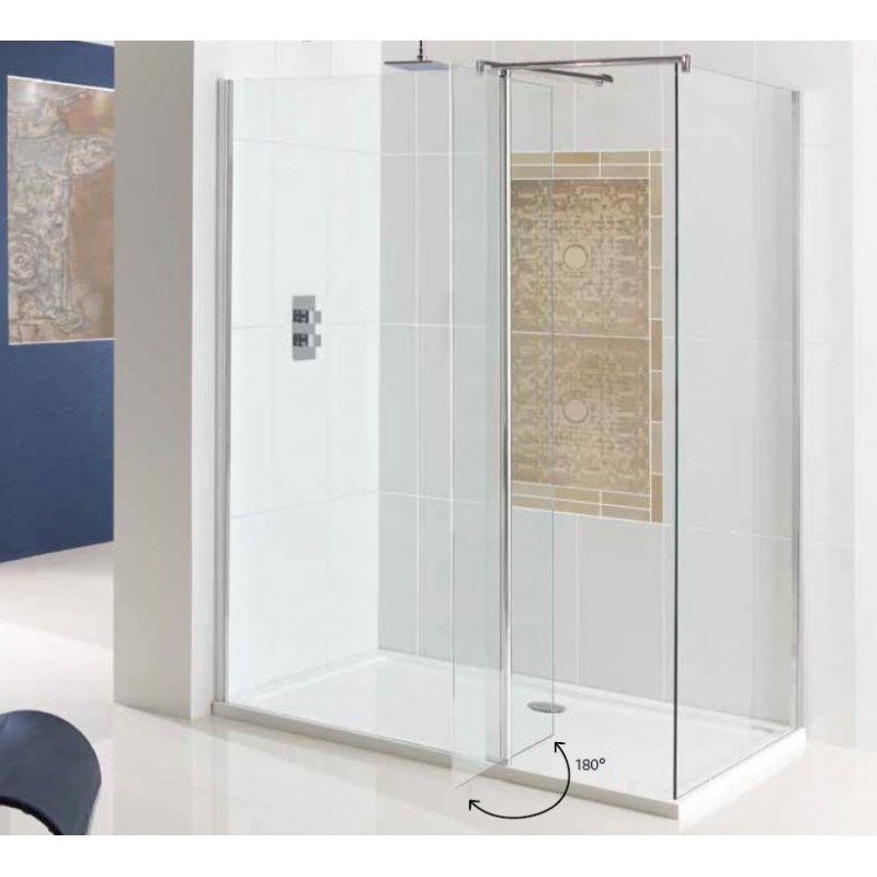 Walk In Shower With Flipper Panel.Eastbrook Vantage Walk In Front Panel With Flipper 600mm