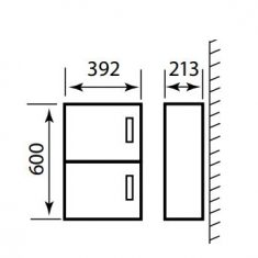 Eastbrook Oslo 39cm Wall Hung 2 Door Unit & Cast Top