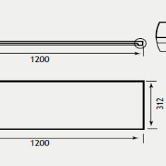 Eastbrook Bonito 1200 x 312mm Slab Top