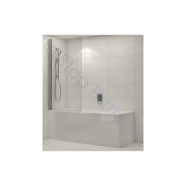 Tissino Lorenzo Single Ended Bath 1600 x 700mm - Standard, Front Panel & Milano 1500 x 800-820 Bath Screen