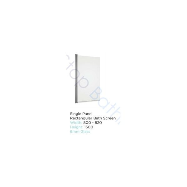 Tissino Lorenzo Single Ended Bath 1600 x 700mm - Standard, Front Panel & Milano 1500 x 800-820 Bath Screen