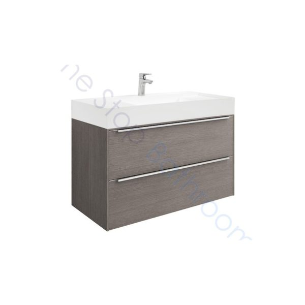 Roca Inspira 1000 x 498mm Wall Hung Base Unit with 2 Drawers and Fine Ceramic Basin