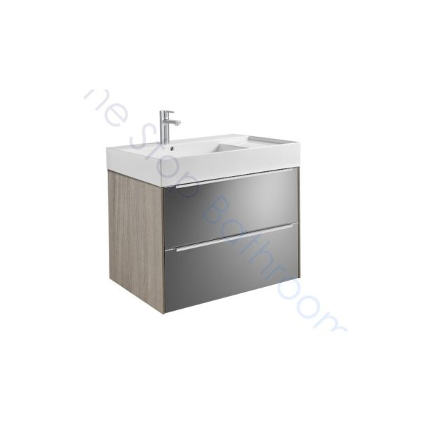 Roca Inspira 800 x 498mm Wall Hung Base Unit with 2 Drawers and Fine Ceramic Basin