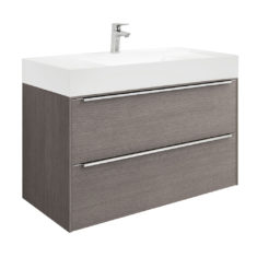 Roca Inspira 1000 x 498mm 2 Drawer Wall Hung Base Unit and Fine Ceramic Basin
