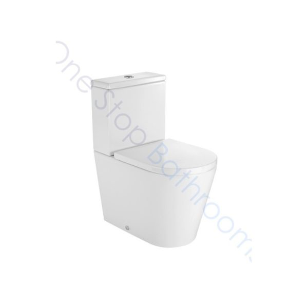 Roca Inspira Round Compact BTW Close Coupled WC, Cistern & Soft Close Seat