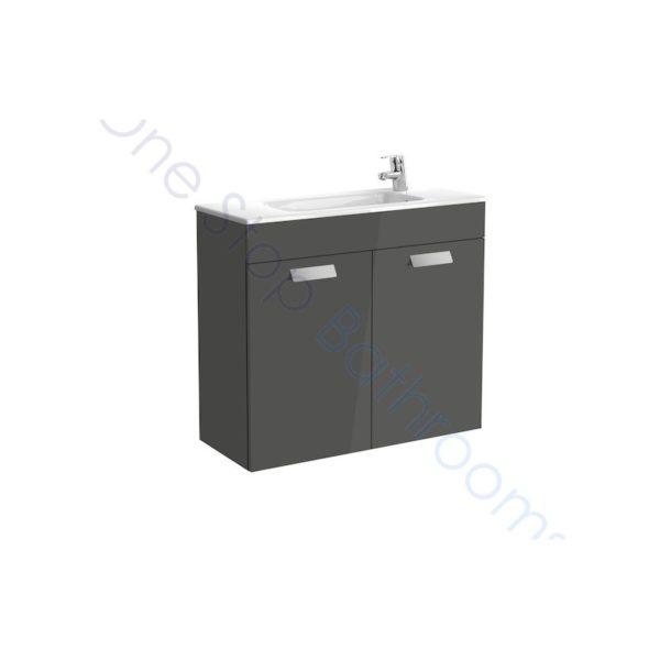 Roca Debba Unik Compact 800mm 2 Door Vanity Unit and Basin