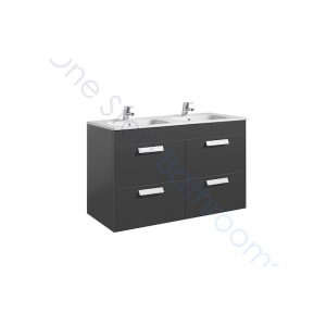 Roca Debba Unik Standard 1200mm 4 Drawer Vanity Unit and Double Basin