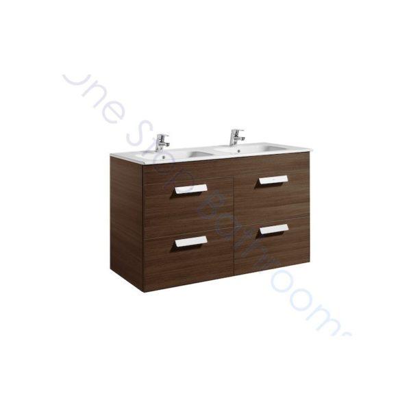 Roca Debba Unik Standard 1200mm 4 Drawer Vanity Unit and Basin