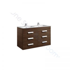 Roca Debba Unik Standard 1200mm 6 Drawer Vanity Unit and Double Basin