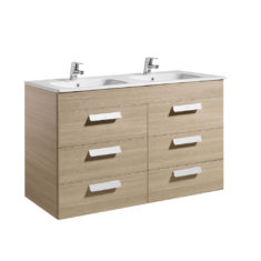 Roca Debba Unik Standard 1200mm 6 Drawer Vanity Unit and Double Basin
