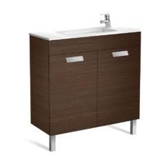 Roca Debba Unik Compact 800 x 360 x 720mm 2 Door Vanity Unit and Basin