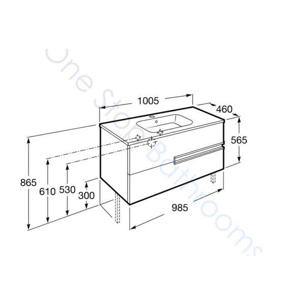 Roca Victoria-N Unik 1000mm 2 Drawer Base Unit & Basin