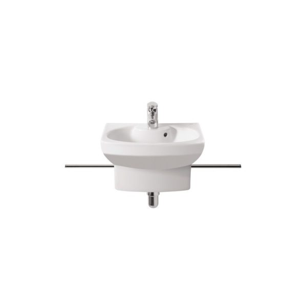 Roca Senso Chrome Rail (Pair) for Compact Cloakroom Basin