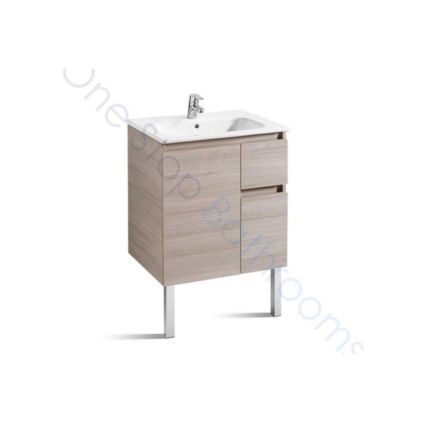 Roca Anima Unik 600mm 2 Drawers, 1 Door Base Unit & Basin