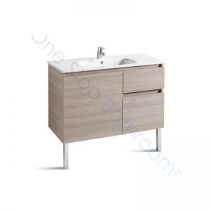 Roca Anima Unik 1000mm 2 Drawers, 1 Door Base Unit & Basin