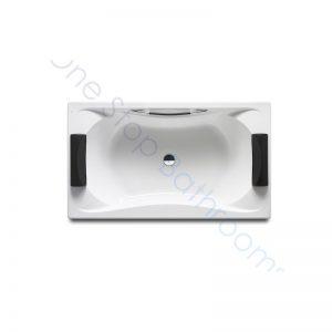 Roca BeCool 1900 x 1100 Double-Ended Acrylic Bath – 1 Grip & 2 Headrests