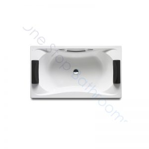 Roca BeCool 1800 x 900 Double-Ended Acrylic Bath – 1 Grip & 2 Headrests