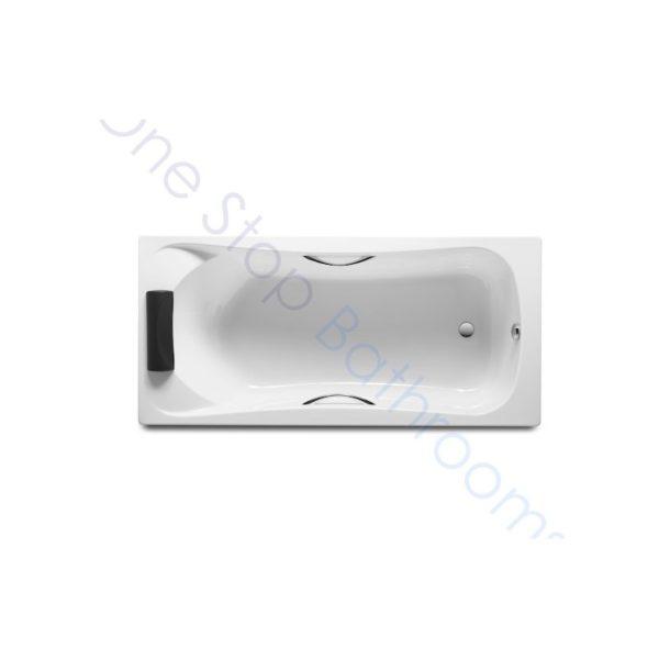 Roca BeCool 1800 x 800 Acrylic Bath - Grips & Headrest