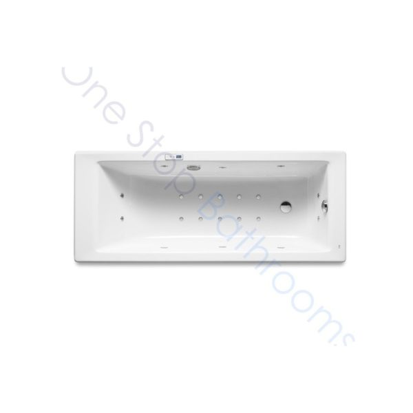 Roca Vythos 1700 x 800 Acrylic Bath with Glow Hydromassage