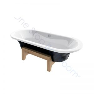 Roca Art Plus Black 1800 x 800 Freestanding Steel Bath – With Anti-Slip