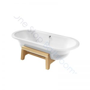 Roca Art Plus White 1800 x 800 Freestanding Steel Bath – With Anti-Slip