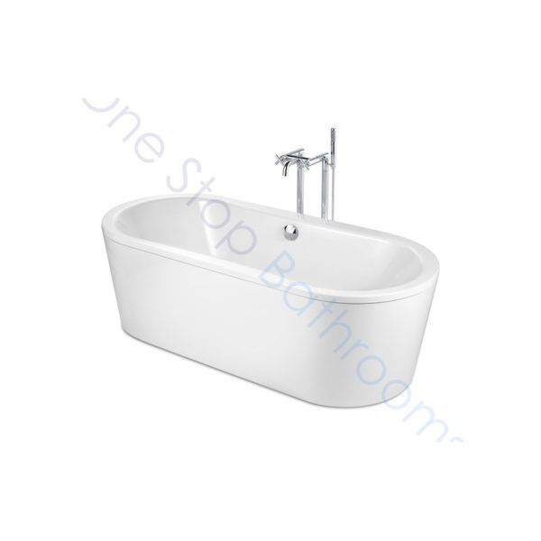 Roca Duo Oval Plus 1800 x 800 Freestanding Steel Bath - With Anti-Slip