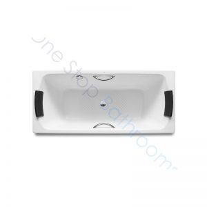 Roca Lun Plus 1800 x 800 Recessed Gripped Steel Bath