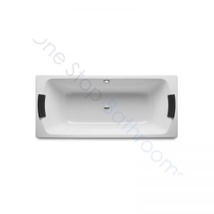 Roca Lun Plus 1800 x 800 Recessed Steel Bath