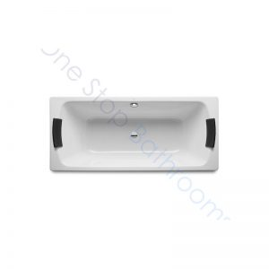 Roca Lun Plus 1700 x 750 Recessed Steel Bath